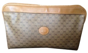 Gucci Vintage Gg Logo Leather Guccissima Clutch