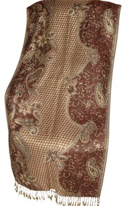Other Elegant New Handcrafted gold thread/silk/viscose Shawl from Bali