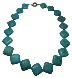 International Market Place Faux Turquoise Geometric Necklace