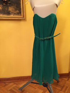 French Connection Pleated Strapless Dress