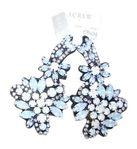 J.Crew J.CREW FABRIC-BACKED CRYSTAL CLUSTER EARRINGS