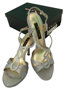 Nina Shoes Evening Sandals Silver Formal
