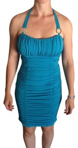 Other Blue Form-fitting Party Halter Dress