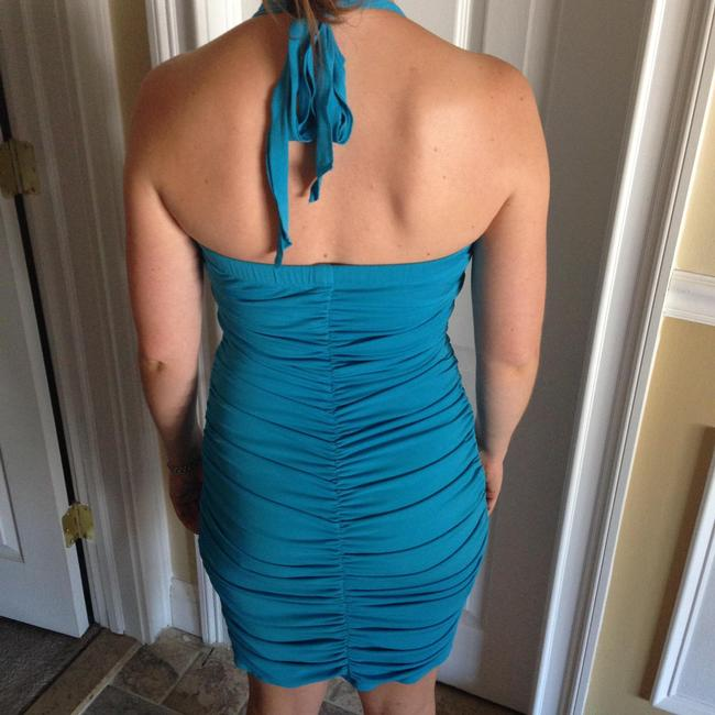 Other Blue Halter Teal Party Dress