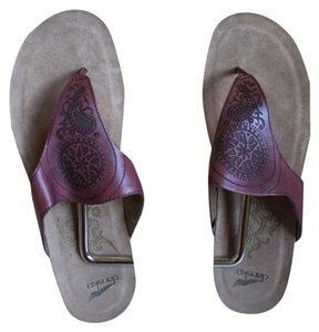 Dansko Burgundy Sandals