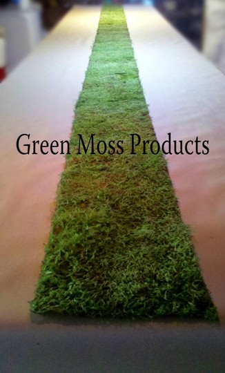 """Made To Order...12""""x20' Real Moss Runner Rustic Display Arch Arches Chic Shabby Settings Bouquet"""