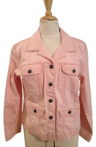 Chico's Denim Pale Pink Womens Jean Jacket