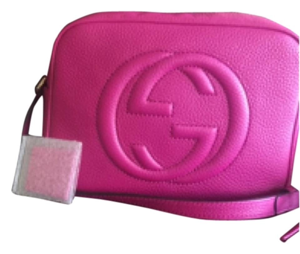 74c66aeb8a4 Gucci Soho Soho Disco New Spring 2016 Disco In Fuschia Leather Cross ...