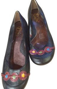 Dolls Point 9 Leather Ballet Black Flats