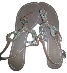 Bongo Braided Bronze Sandals