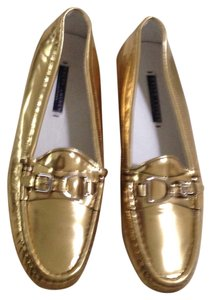 Ralph Lauren Collection Loafers Like New Gold/Silver Flats