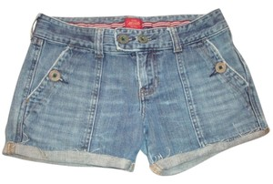Abercrombie & Fitch Cut Off Trouser Size 4 Cut Off Shorts blue