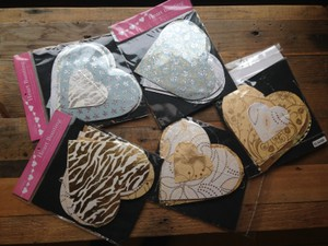 Luna Bazaar Gold Silver And Heart Shaped Bunting Garland For Loved-filled Ceremony Decoration