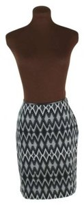 INC International Concepts Southwest Print Skirt Gray