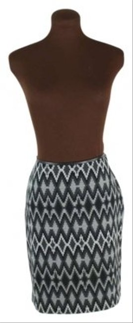 INC International Concepts Southwest Print Pencil Skirt Gray