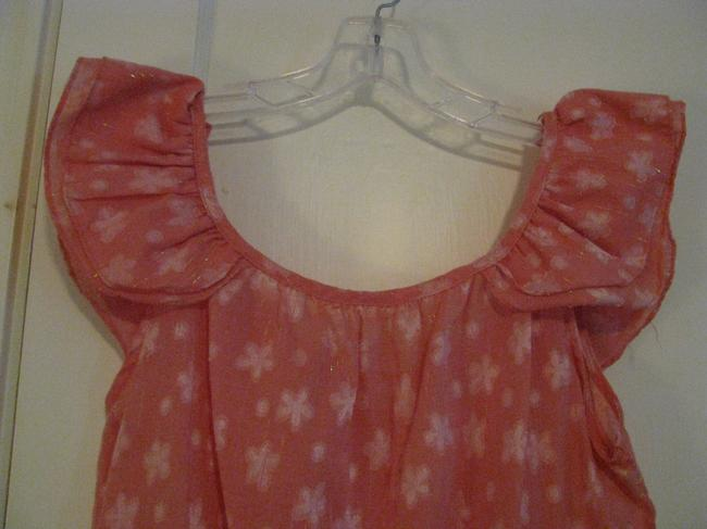 Buttons short dress Pink on Tradesy