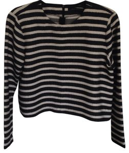 Zara Striped Top Black/white