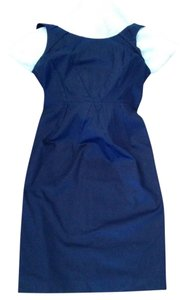 Martin + Osa Cotton Fully Lined Tucks Fitted Dress