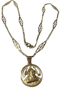 Solid 18k 18kt Yellow Gold - Religious MARY / JESUS Pendant with 20