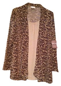 White Stag Top beige and brown