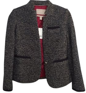 Banana Republic Navy blue tweed Blazer
