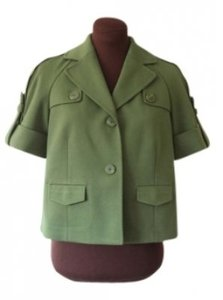 Ann Taylor LOFT Boxy Cropped Spring Green Jacket