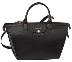 Longchamp Structured Satchel in black