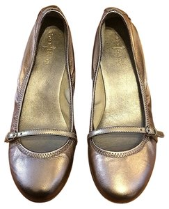 Cole Haan Leather Metallic Comfortable Ballet Gold Wedges