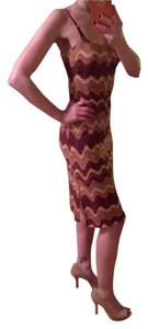 BCBGMAXAZRIA short dress Tan, nude, maroon, wine, oxblood Bodycon on Tradesy