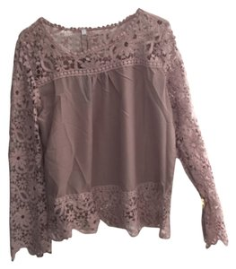 Mauvelous Lace sleeved blouse Size L Top