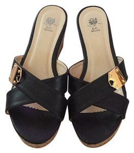 GC Shoes Black Wedges