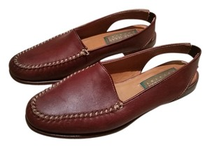 Cole Haan Leather Moccasin Stitching Brown Flats