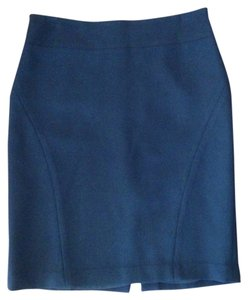 Banana Republic Wool Fitted Straight Skirt BLACK