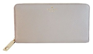 Kate Spade New York Leather Gray Clutch