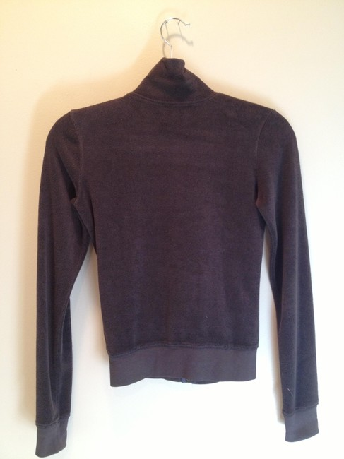 Juicy Couture Juicy Couture Sweet Brown Zippered Track Sweater Petite