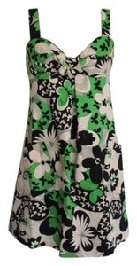 A.B.S. by Allen Schwartz short dress Green Bold Floral Print Retro Day on Tradesy