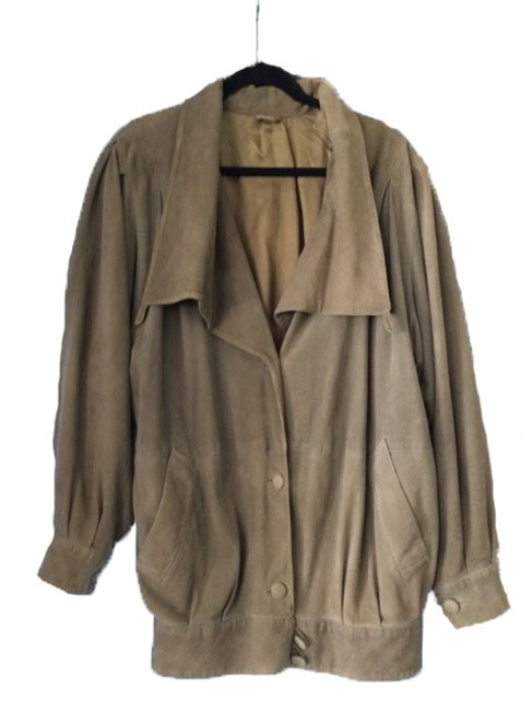 Other Custom Made Italian Suede Olive Green Leather Jacket