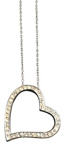 Dillard's Crystal Heart Pendant Necklace