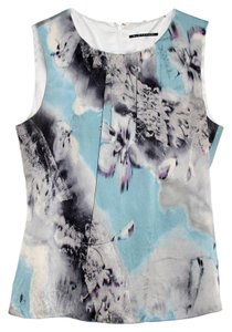 Elie Tahari Top Blue Floral