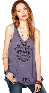 Free People Wild Strawberries Adorable Plum Tunic