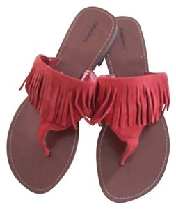 Mossimo Supply Co. Flip Flops Fringe orange Sandals