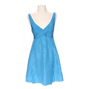 J.Crew Blue Silk Crinkle Bridesmaid/ Formal Bridesmaid/Mob Dress Size 2 (XS)