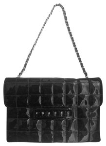 Chanel Patent Classic Quilted Keyboard Pochette Baguette