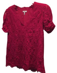 Joie Top Raspberry Red