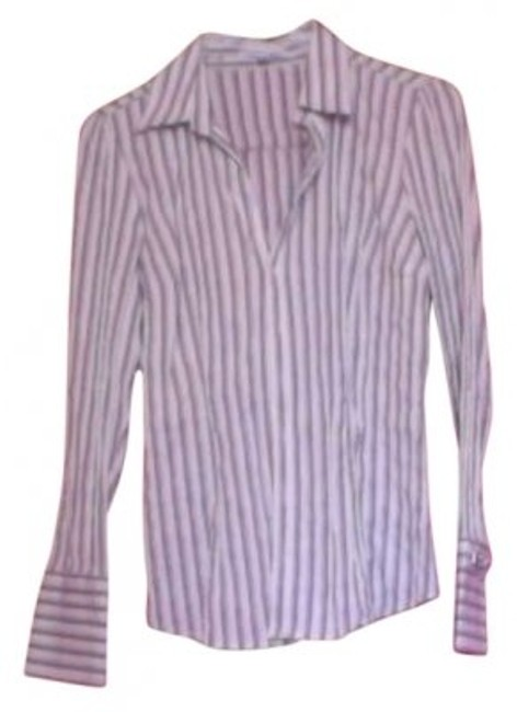 Preload https://item1.tradesy.com/images/express-black-gray-white-pinstripes-button-down-top-size-10-m-128740-0-0.jpg?width=400&height=650