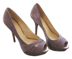 Guess Sparkle Stiletto Night Out Date Night purple, red, silver glitter Pumps