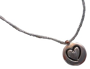 Silver Chain w/ Heart Etched in Pendant
