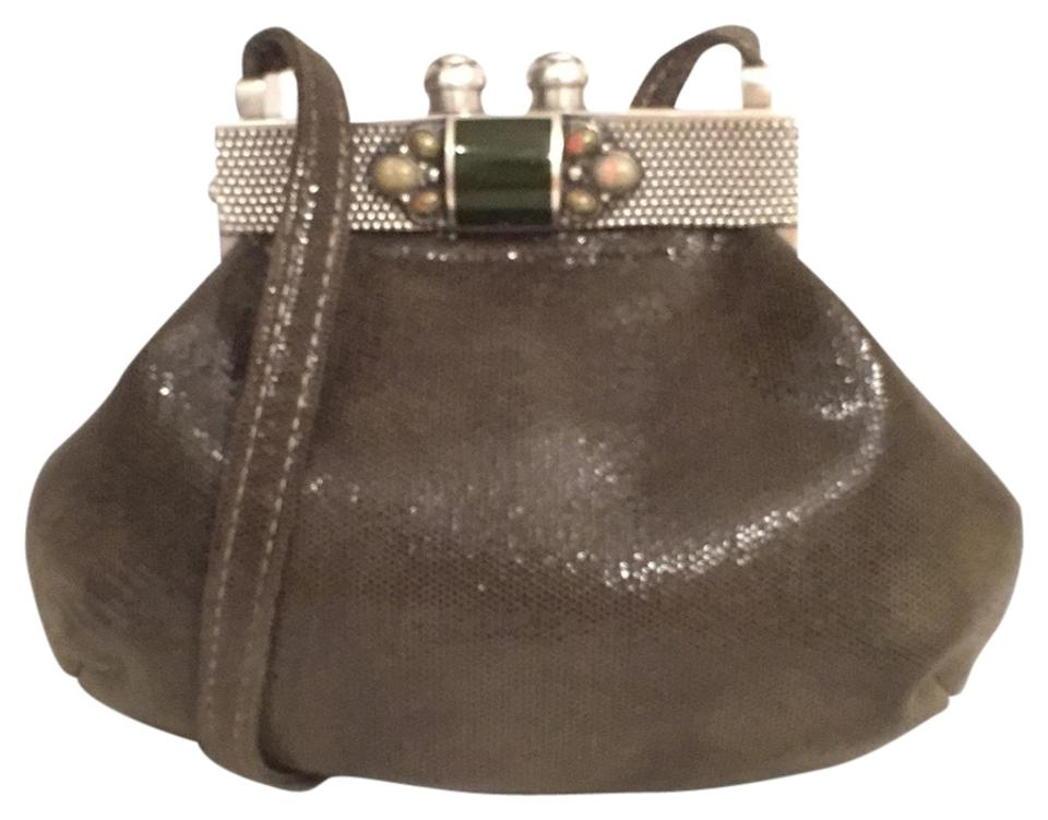 Boutique Suede Leather W Real Stones Inlay Green Silver Leather ... 379396acf236c