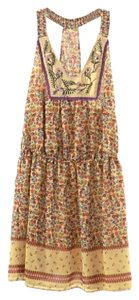 Jessica Simpson short dress Tan and Orange Floral Cowgirl Fall Colors on Tradesy