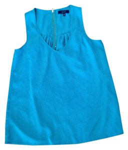 Eclair Polyester Washable Sleeveless Top Emerald Green